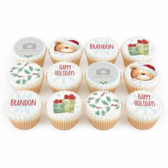 12 Teddy Gift Cupcakes