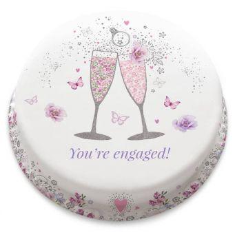 Pink Engagement Cake