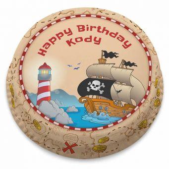 Pirate Ship Map Cake