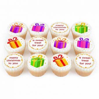 12 Christmas Presents Cupcakes