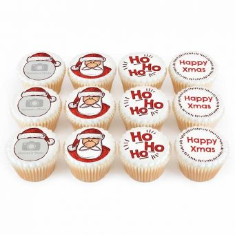 12 HO HO HO Cupcakes