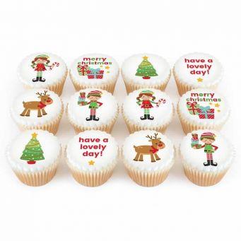 12 Santa's Grotto Cupcakes