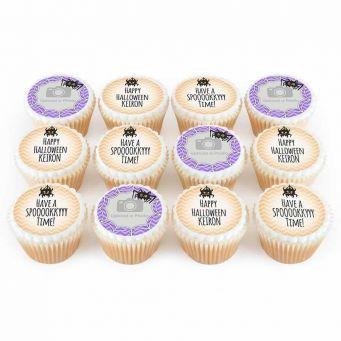 12 Spider Cupcakes