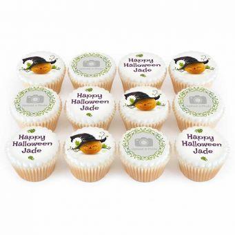 12 Pretty Pumpkin Cupcakes