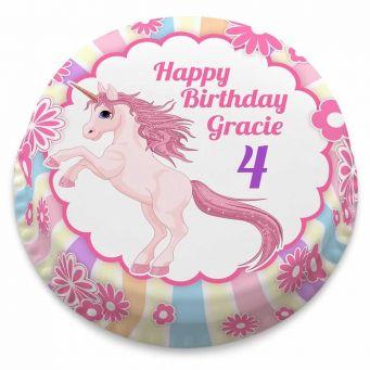Unicorn & Flowers Cake