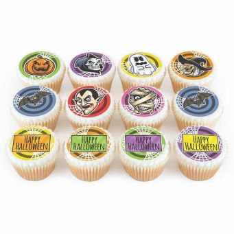 12 Spooky Character Cupcakes