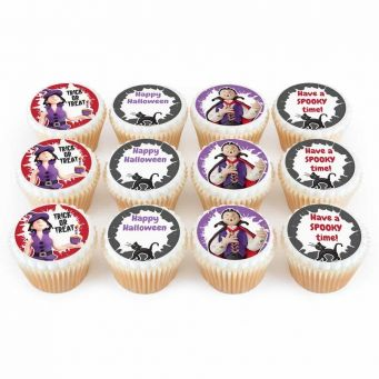 12 Halloween Cupcakes