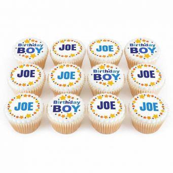 12 Birthday Boy Cupcakes