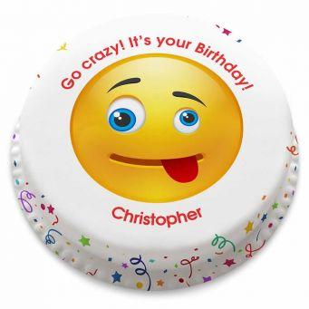 Crazy Emoji Cake