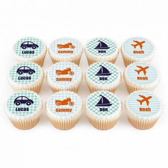 12 Vehicle Cupcakes