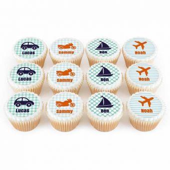 12 Vehicle Cupcakes