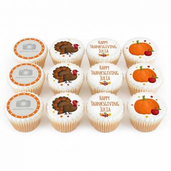 12 Thanksgiving Cupcakes