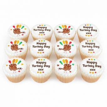 12 Turkey Cupcakes