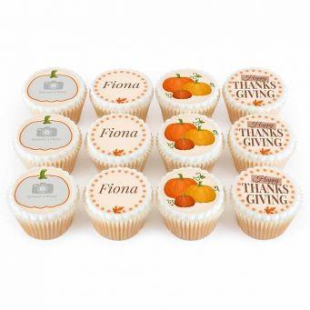 12 Pumpkin Photo Cupcakes