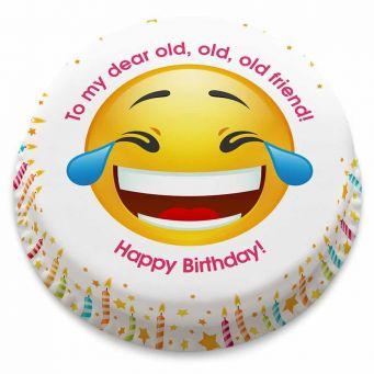 Laughing Face Emoji Cake