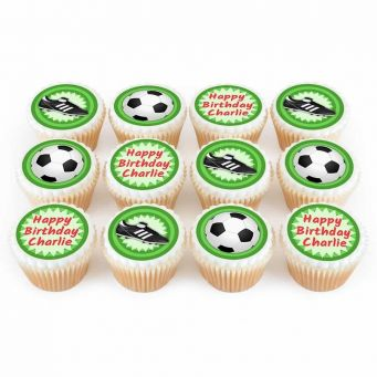 12 Soccer Cupcakes