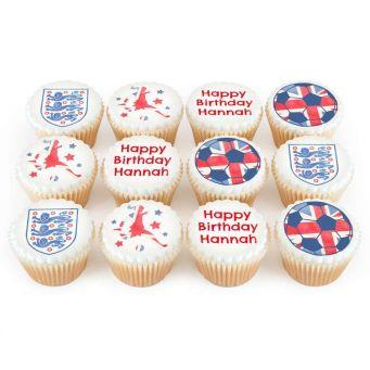 12 Footy Fan Cupcakes