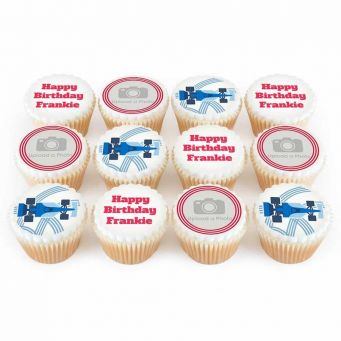 12 Speed Racer Cupcakes