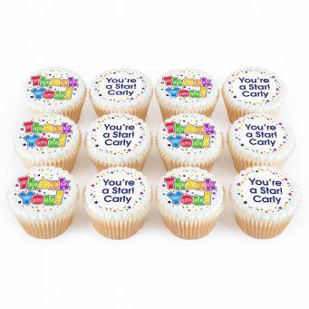 12 Thank You Cupcakes