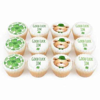 12 Lucky Ted Cupcakes