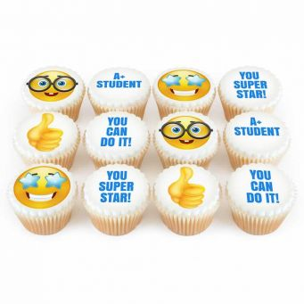 12 Good Luck Emoji Cupcakes
