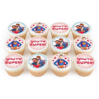 12 Super Dad Cupcakes