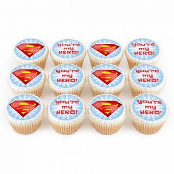 12 Superhero Cupcakes