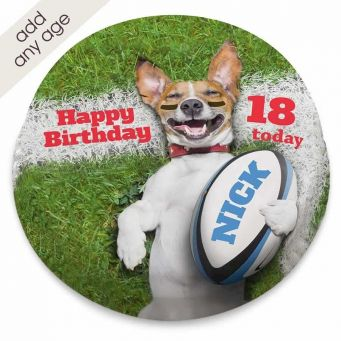 Rugby Dog Cake