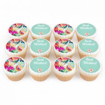 12 Floral Eid Cupcakes