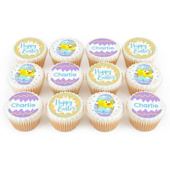 12 Easter Chick Cupcakes