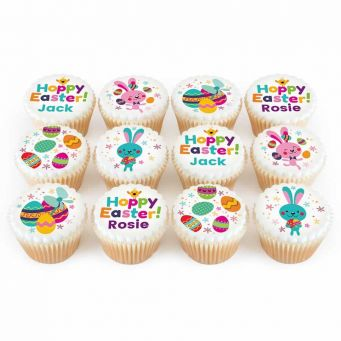 12 Hoppy Easter Cupcakes