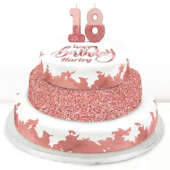 18th Birthday Rose Foil Cake