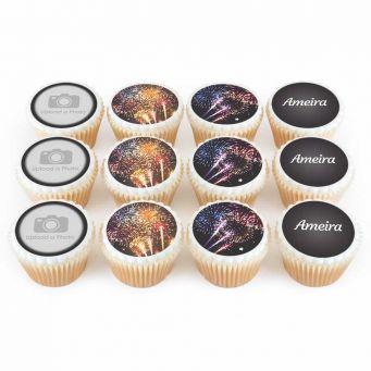 12 Firework Cupcakes