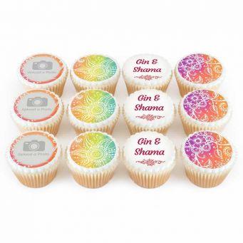 12 Henna Cupcakes