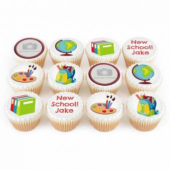 12 School Photo Cupcakes