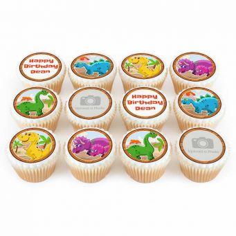 12 Dinosaur Cupcakes