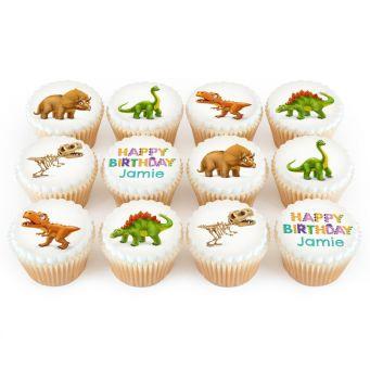 12 Dino Cupcakes