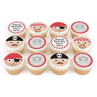 12 Pirate Face Cupcakes