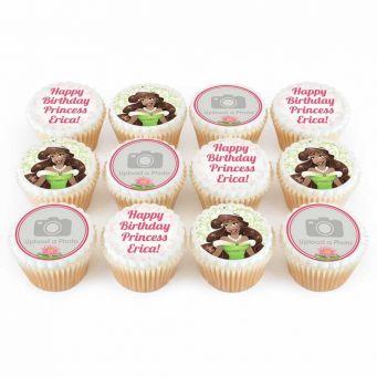 12 Frog Princess Cupcakes