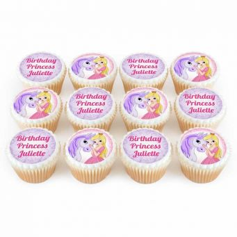 12 Pony Princess Cupcakes