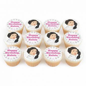 12 Space Princess Cupcakes