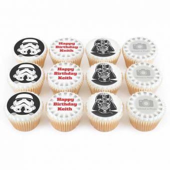 12 Space Villain Cupcakes