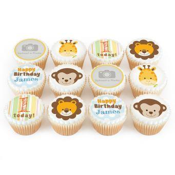 12 Jungle Photo Cupcakes