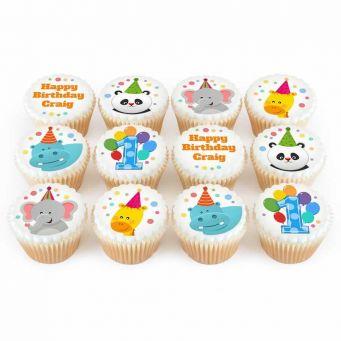 12 Jungle Animal cupcakes
