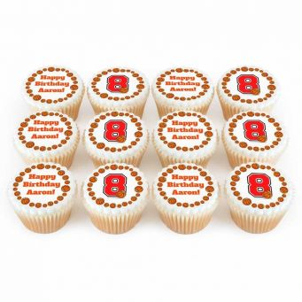 12 Basketball Number Cupcakes