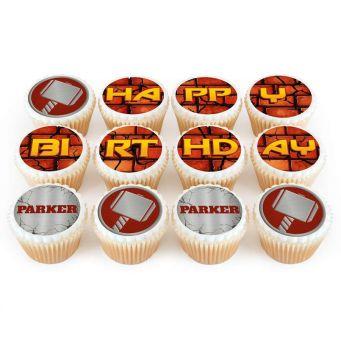 12 Thor Cupcakes