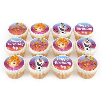 12 Frozen Anna Themed Cupcakes