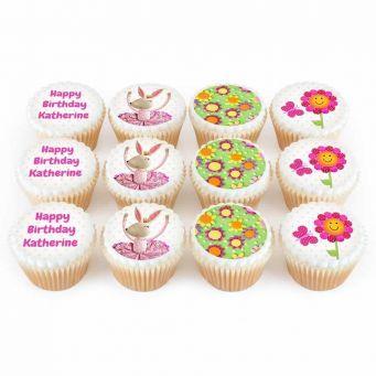 12 Ballerina Bunny Cupcakes