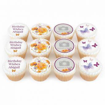 12 Dahlia Photo cupcakes