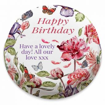Birthday Flower Garden Cake